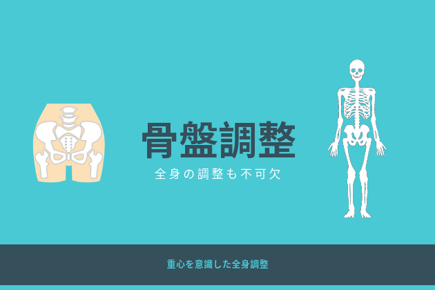 骨盤調整は全身調整が必須イラスト